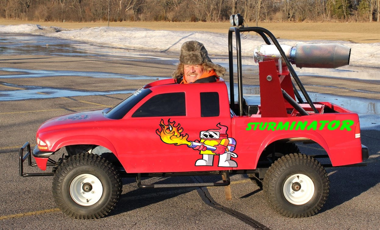 World's Smallest Jet Powered Dodge Dakota Monster Truck ...